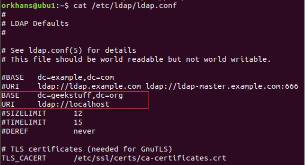 How to Install OpenLDAP on Ubuntu 18 04? | GeekStuff