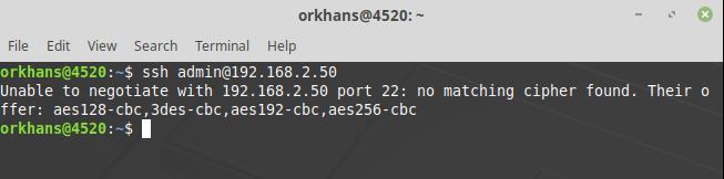 SSH Error: Unable to negotiate  No matching cipher found  | GeekStuff