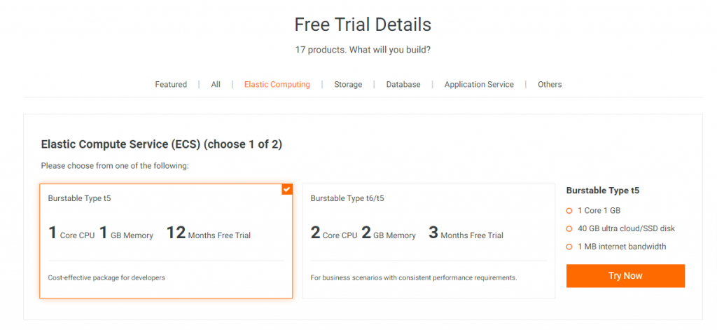 Free Trial options